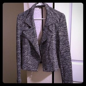 Express black and white jacket